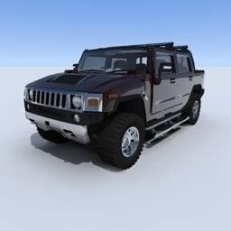 ハマーh2ブラックカーフリー3dモデル Open3dmodel