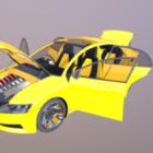 Hybridautodesign Mit Innenraum