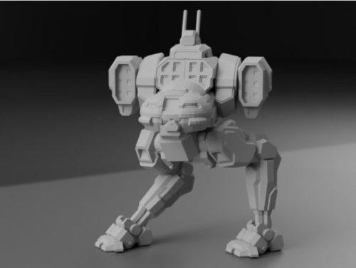 Personagem: Jenner Battletech Sculpt