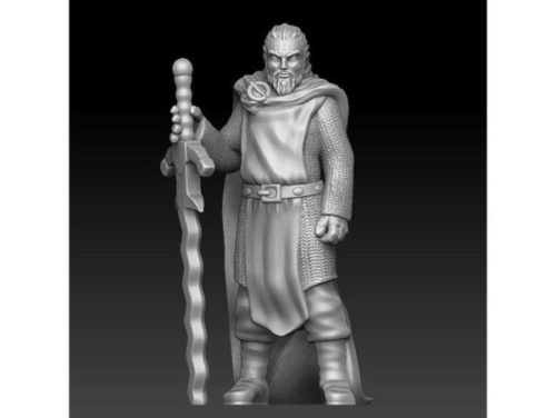 Personagem de jogo de cavaleiro templário espada