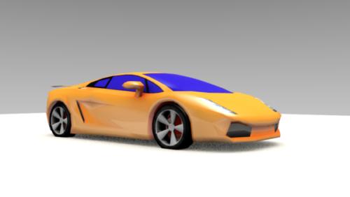 Keltainen Lamborghini Gallardo-auto