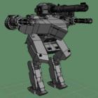 Lion Robot Warrior Character