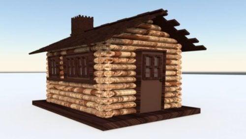 Casa de cabaña de madera