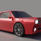 Low Poly Car Design