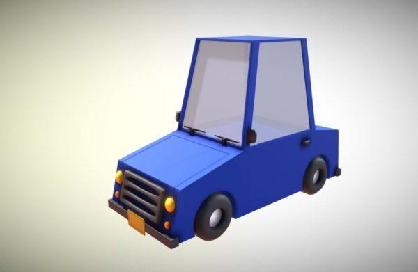 Gaming Lowpoly Diseño de autos