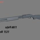 Lowpoly Fucile Remington Arma