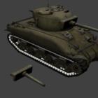 Ww2 M4 střední tank