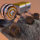 Mars Rover Raumfahrzeug