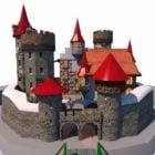 Medeltida Rock Castle byggnad
