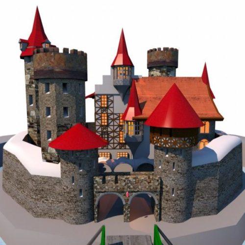 Roca medieval Castle edificio