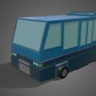 Mini Bus Low Poly