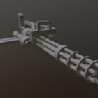 Mini Gun Lowpoly Zbraň