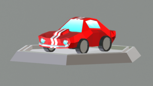 Lowpoly Mustang Coche Gt350