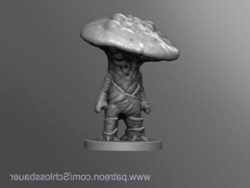 Fiori 3dm.Myconid Sprout Character Modello 3d Gratuito 3dm Open3dmodel