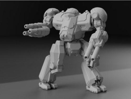 Nct-prime Battletech Character Sculpt