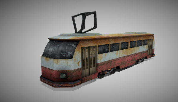 Vintage Electric Apocalyptic Tram