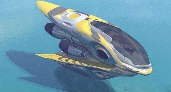 الخيال العلمي عربة الطائرة