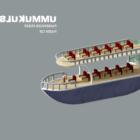 Passagier mittleres Schiff