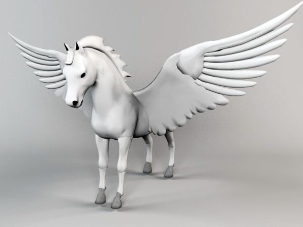 Estatua Animal Pegaso