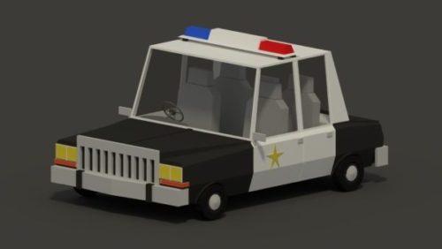 Plymouth Lowpoly Coche de policía