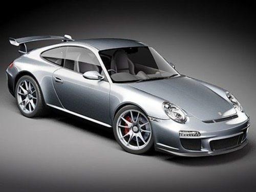 سيارة بورش 911gt الفضية