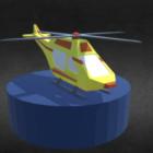 Lowpoly Elicottero di salvataggio