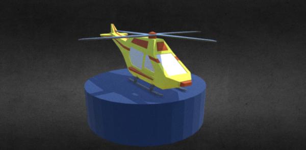 Lowpoly Helicóptero de rescate