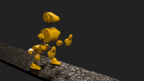 Yellow Robot Dog Animated