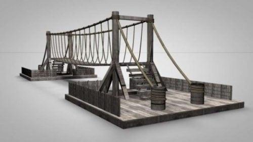 Edificio del puente de cuerda