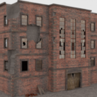 Vintage Brick Ruin Building