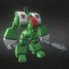 Spartanisches Zerstörungsroboterkonzept