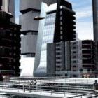 مبنى وسط مدينة المستقبل