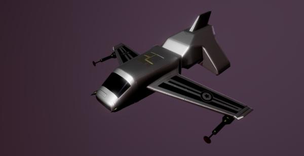 Diseño de nave espacial futurista