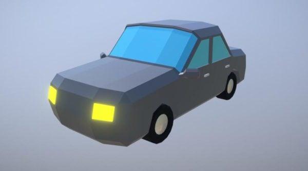 Yksinkertainen peli Lowpoly Auto