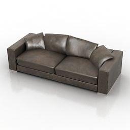 Sofá de couro Fendi Design