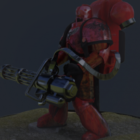 Robot Space Marine Character