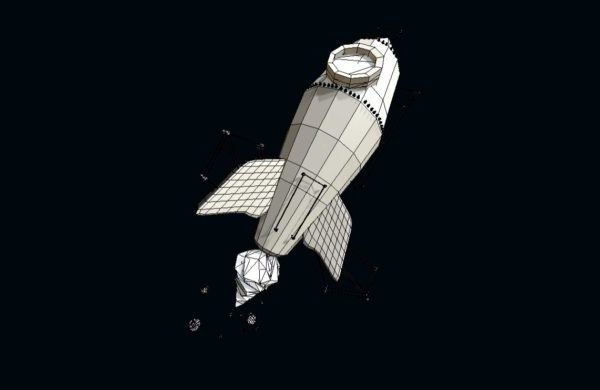 صاروخ الفضاء الكرتون