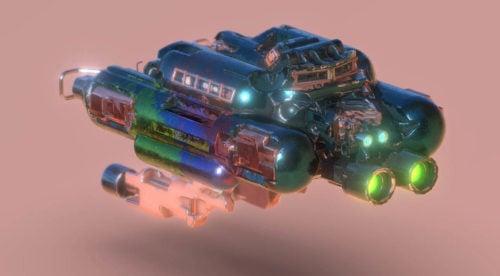 الخيال العلمي مركبة فضائية