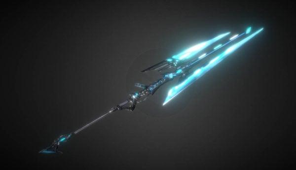 Espada de lanza de ciencia ficción