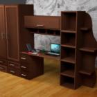Tabouret avec meubles d'armoire