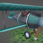 Stylized Propeller Airplane