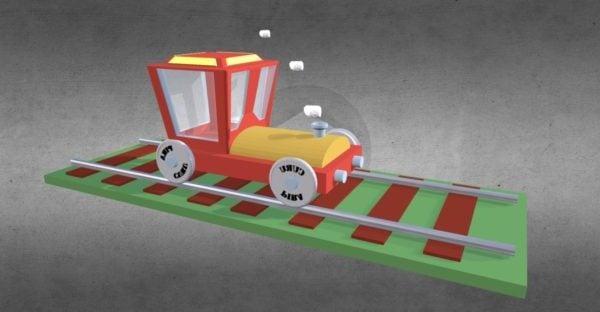 الكرتون وحيدا القطار