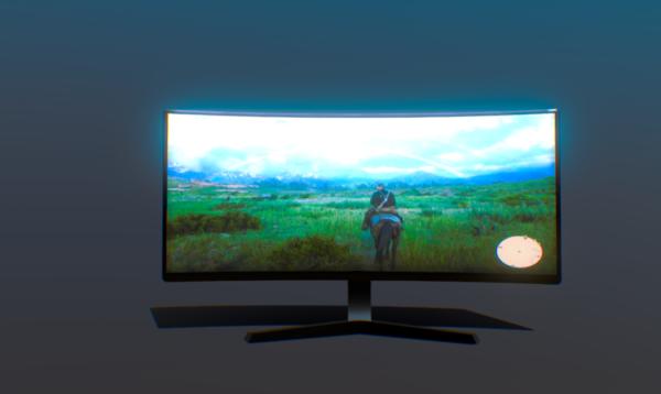 Pc Monitor Ultrawide Screen Free 3d Model - .Fbx - Open3dModel - 295076