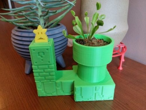 Printable Pipe Self Watering Planter