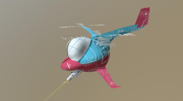 Helicóptero de guerra estilo de dibujos animados