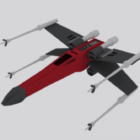 X-wing Star Wars rumskib