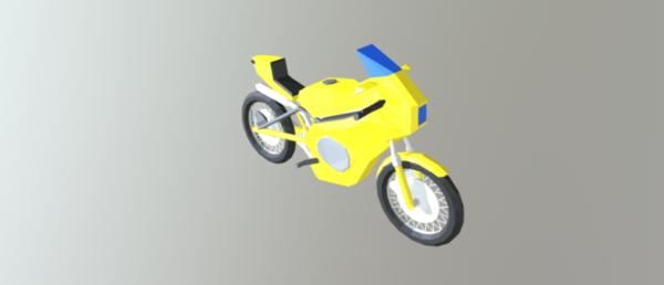 Bicicleta Yamaha Low Poly
