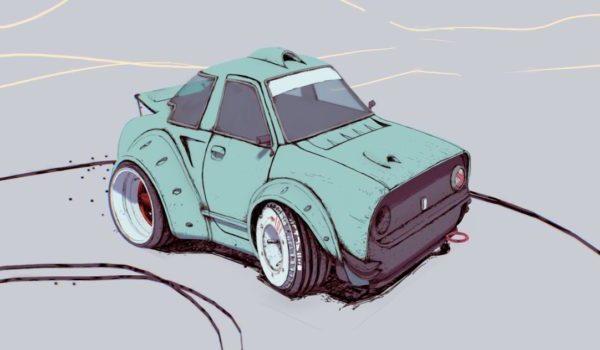 Che sarjakuva-auto