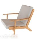 أريكة خشبية مع منصات