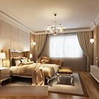 European Style Bedroom Interior With Furniture